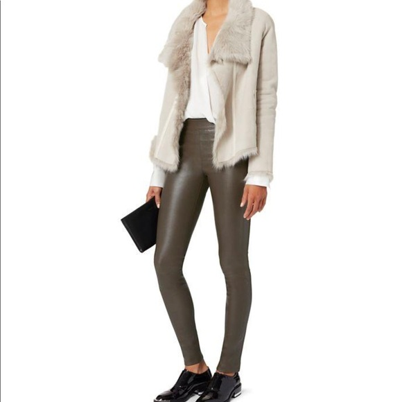 bd2c316e800387 Helmut Lang Pants | Leather Leggings Color Marsh | Poshmark